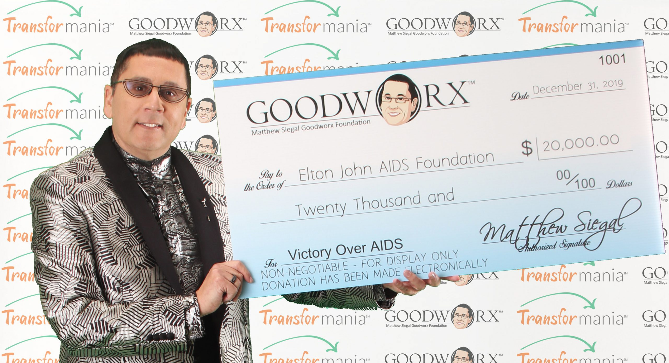 Tech Entrepreneur Matthew Siegal Announces Donation to Elton John AIDS Foundation